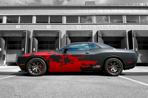 car wrapping dodge